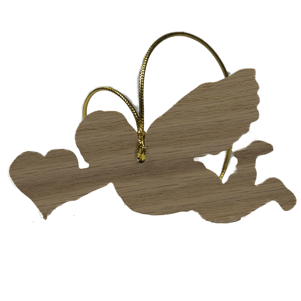 wooden cupid ornament valentines day gift